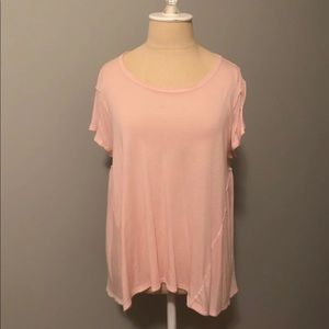 Free People Baby Pink Top